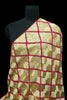 Golden & Pink Pure Phulkari Dupatta By Punjabi Traditional Jewellery