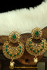 Green Polki Earrings By Punjabi Traditional Jewellery