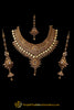 Antique Gold Choker Polki/Kundan Necklace Set By Punjabi Traditional Jewellery