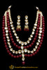 Rubby Kundan Necklace Set By Punjabi Traditional Jewellery