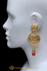 Gold Plated Red Earrings By Punjabi Traditional Jewellery