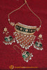 Arman Green Choker Pearl Kundan Meena Necklace Set By Punjabi Traditional Jewellery