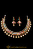 Multi Polki Pearl Necklace Set By Punjabi Traditional Jewellery