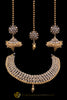 Gold Plated Polki Choker Necklace Set With Sahare Earrings By Punjabi Traditional Jewellery