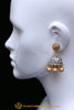 Silver Plated Golden Earrings By Punjabi Traditional Jewellery