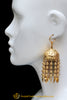 Gold Plated Jhumki with Peepal Patti Earrings By Punjabi Traditional Jewellery