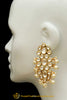 Pearl Kundan Earrings By Punjabi Traditional Jewellery