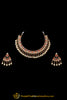 Orange White Pearl Polki Necklace Set By Punjabi Taditional Jewellery