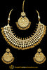 Golden & Silver Kundan Necklace Set By Punjabi Traditional Jewellery