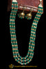 Green Antique Gold Necklace Set By Punjabi Traditional Jewellery