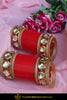 Oversized Kundan Red Bridal Chura | Punjabi Traditional Jewellery Exclusive