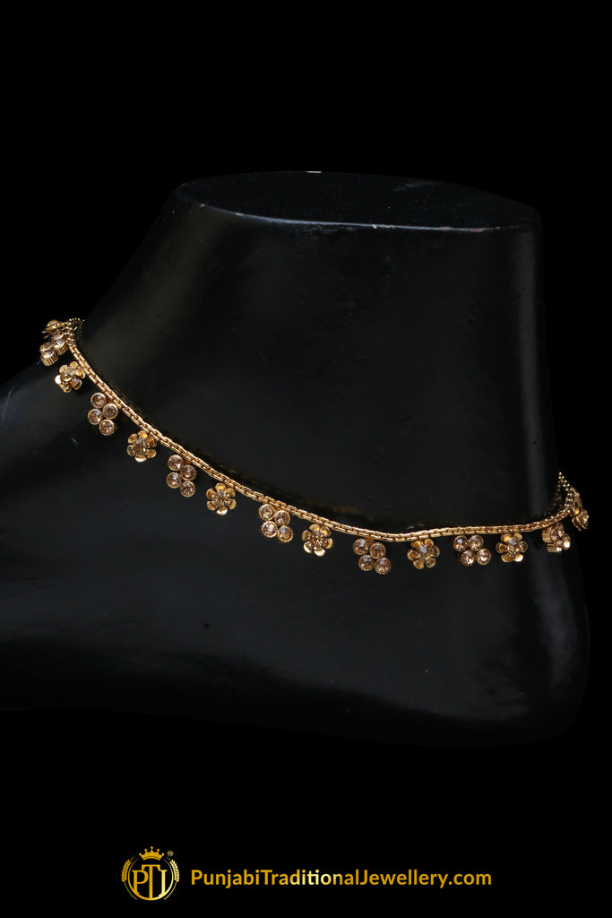 Jerkan & Antique Gold Payal By Punjabi Traditional Jewellery