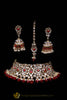 Rubby Kundan Choker Necklace Set By Punjabi Traditional Jewellery