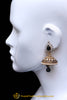 Purple Antique Gold Jhumki Earrings By Punjabi Traditional Jewellery