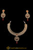 Antique Gold Rubby Necklace Set By Punjabi Traditional Jewellery