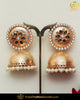 Gold Finished Blue Pearl Jhumki Earrings | Punjabi Traditional Jewellery Exclusive