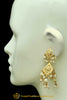 Golden Pearl Jadau Jhumki Earrings By Punjabi Traditional Jewellery