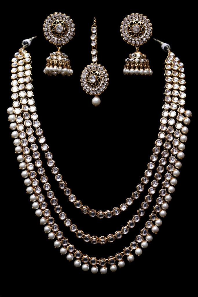 Qainaat Long Necklace Set By Punjabi Traditional Jewellery