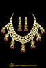 Red Kundan & Pearl Necklace Set By Punjabi Traditional Jewellery