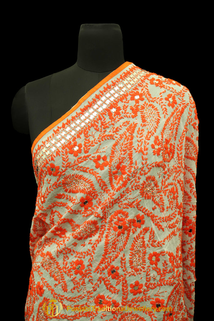 Pure Phulkari Dupatta By Punjabi Traditional Jewellery