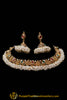 Antique Gold Pearl Necklace Set By Punjabi Traditional Jewellery