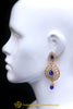 Polki Blue Earrings By Punjabi Traditional Jewellery