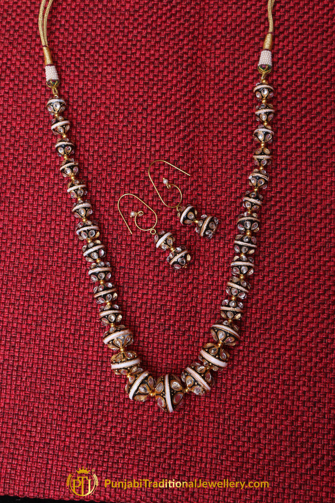 Mala Meena Necklace Set By Punjabi Traditional Jewellery