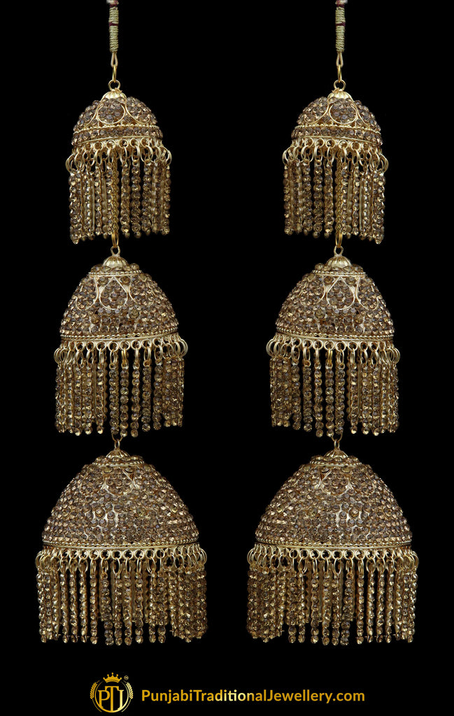 Golden Bridal Wedding Kalira By Punjabi Traditional Jewellery
