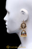 Meena, Jhumki & Antique Gold Earrings By Punjabi Traditional Jewellery