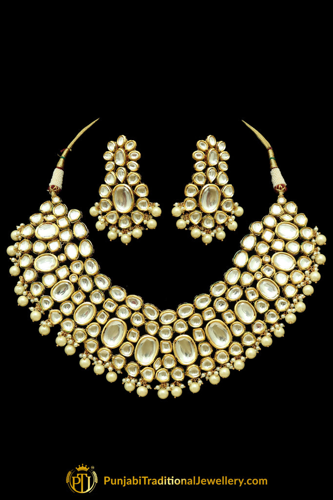 Kundan Necklace Set By Punjabi Taditional Jewellery