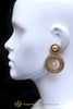 Antique Gold Pearl Earrings By Punjabi Traditional Jewellery