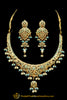 Firozi Jadau Necklace Set By Punjabi Traditional Jewellery