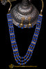 Blue Antique Gold Necklace Set By Punjabi Traditional Jewellery