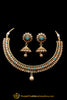Firozi Polki Necklace Set By Punjabi Traditional Jewellery