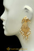 Golden Jadau Earrings By Punjabi Traditional Jewellery