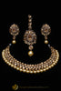 Golden Kundan Necklace Set By Punjabi Traditional Jewellery
