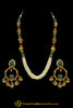 Rubby Panna Pearl Jodha Mala Necklace Set By Punjabi Traditional Jewellery