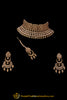 Golden Champagne Stone Necklace Set By Punjabi Traditional Jewellery