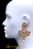 Antique Gold Pearl & Polki Earrings By Punjabi Traditional Jewellery