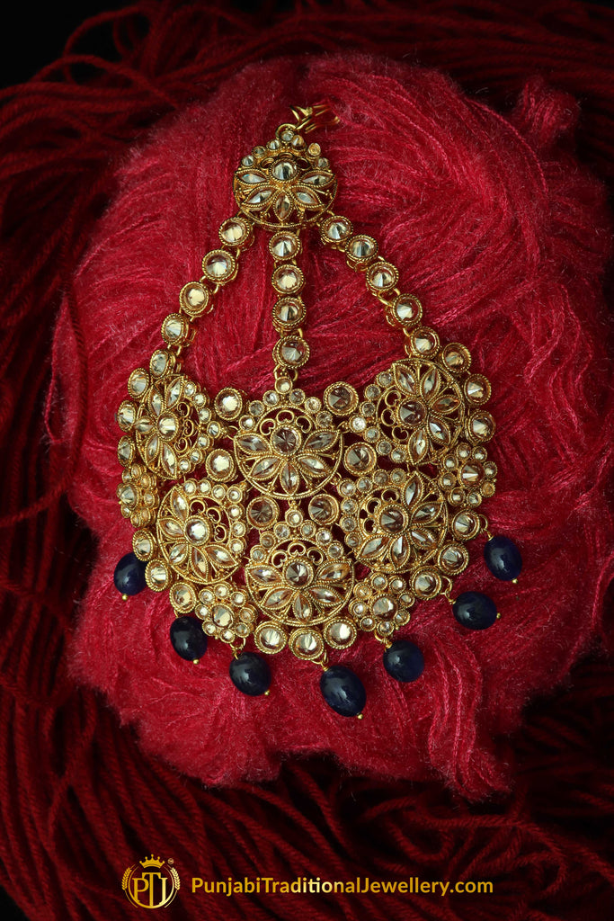 Blue Champagne Stone Passa By Punjabi Traditional Jewellery