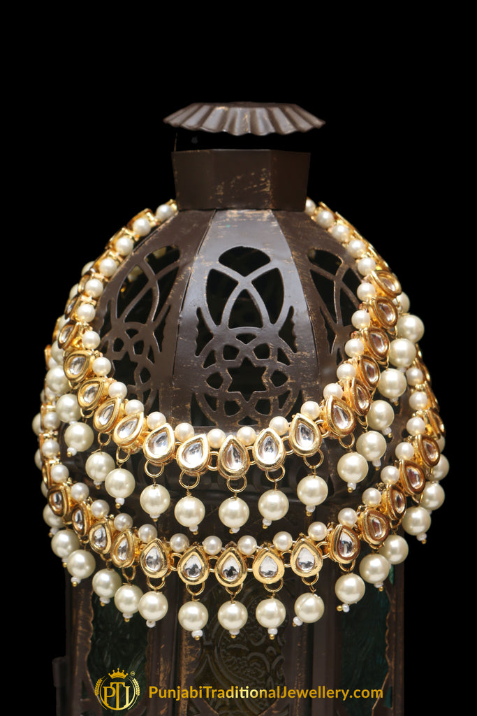 Kundan With Pearl Payal By Punjabi Traditional Jewellery