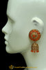 Orange Polki Jhumki Earrings By Punjabi Traditional Jewellery