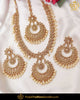 Gold Finished Champagne Stone Pearl Long Necklace Set | Punjabi Traditional Jewellery Exclusive