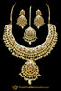 Multi Kundan & Jadau Necklace Set By Punjabi Traditional Jewellery