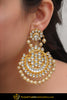 Anida Golden Kundan Pearl Earrings | Punjabi Traditional Jewellery Exclusive