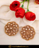 Gold Finished Chamapgne Stone Stud Earrings | Punjabi Traditional Jewellery Exclusive