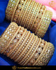 Champagne stone gold Bridal Chura | Punjabi Traditional Jewellery Exclusive