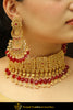 Assureds Rubby Champagne Stone Choker Set & Earrings | Punjabi Traditional Jewellery