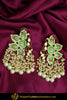 Karam Hand Painted Pearl Green Kundan Earrings | Punjabi Traditional Jewellery Exclusive