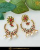 Gold Finished Rubby Pearl Earrings | Punjabi Traditional Jewellery Exclusive